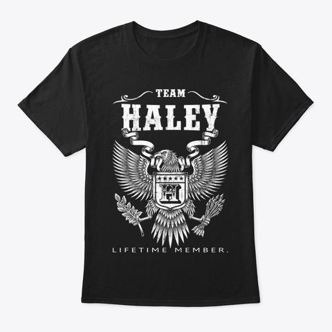 Haley Family Name Shirt, Black T-Shirt Front
