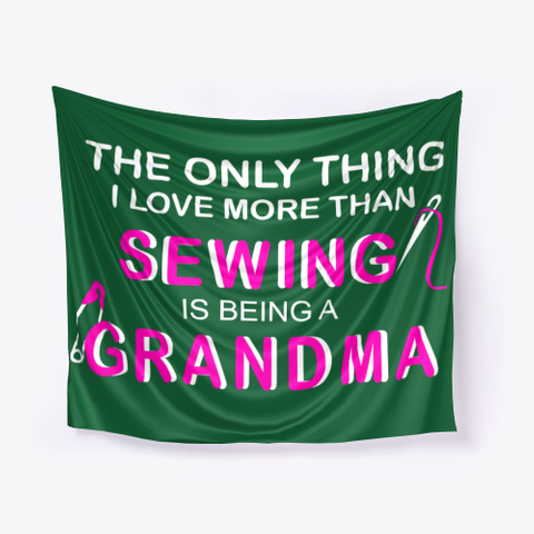 Betty Lop Designer Sewing  Grandma Dark Green T-Shirt Front