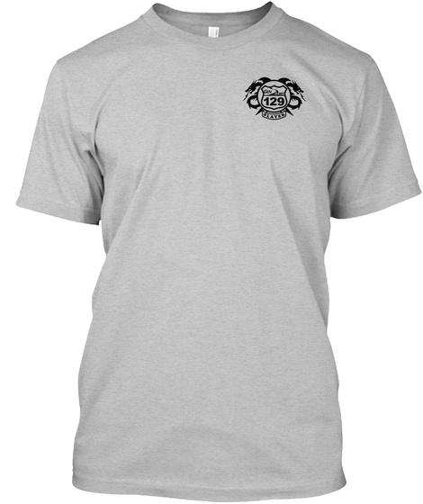 129 Slater Light Heather Grey  T-Shirt Front