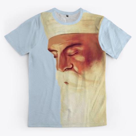 Guru Nanak Dev Pale Blue T-Shirt Front