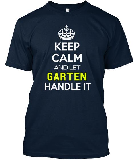Garten New Navy T-Shirt Front