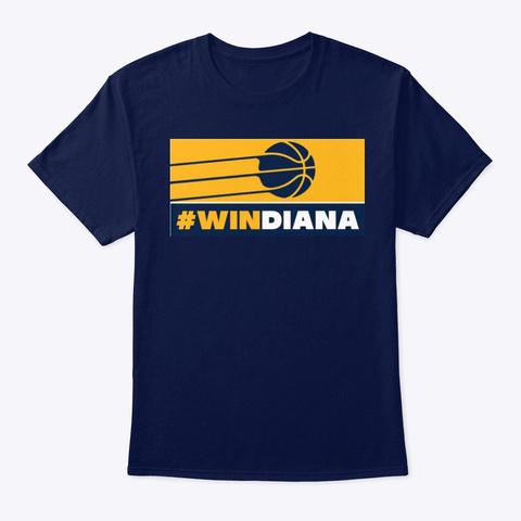 "Jb Sports Radio ""W Indiana"" Logo Navy T-Shirt Front"