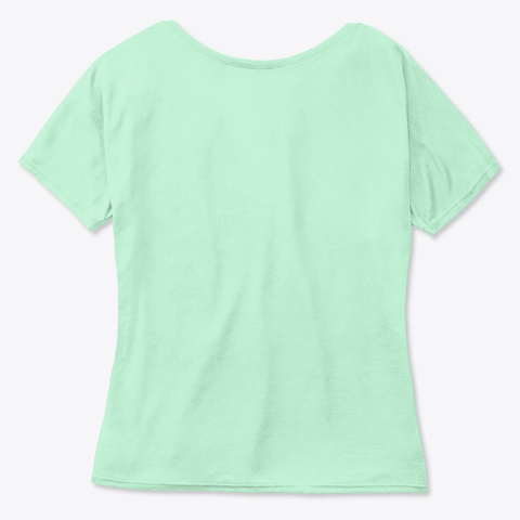 Just A Word Mint  T-Shirt Back