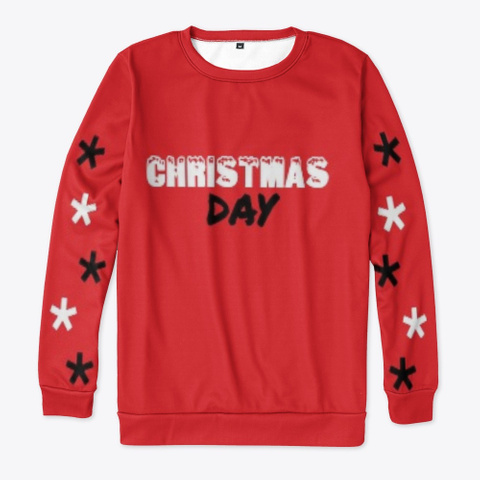 """Christmas Day"" Apparel Red T-Shirt Front"