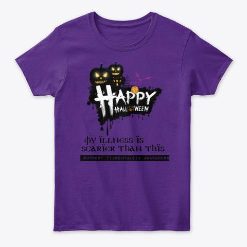 Happy Halloween Purple T-Shirt Front