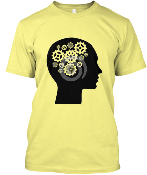 The Thinker Lemon Yellow  T-Shirt Front