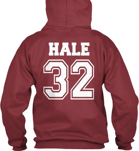 Hale 32 Maroon T-Shirt Back