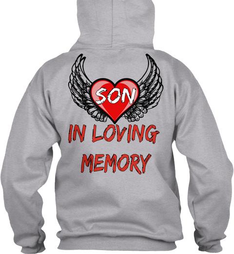 Son In Loving Memory Sport Grey T-Shirt Back