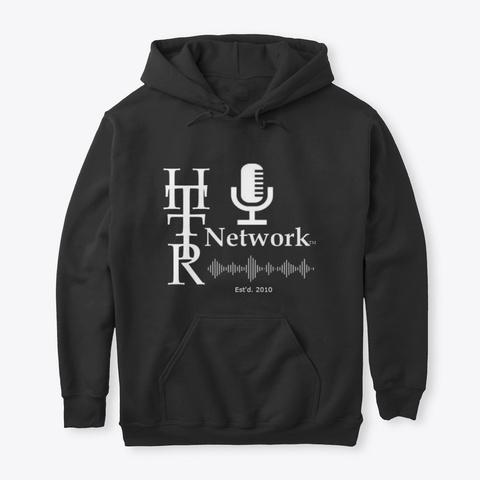 Httr Network Hoodie Black T-Shirt Front