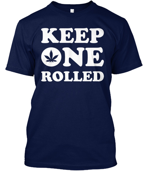 Keep One Rolled Navy T-Shirt Front