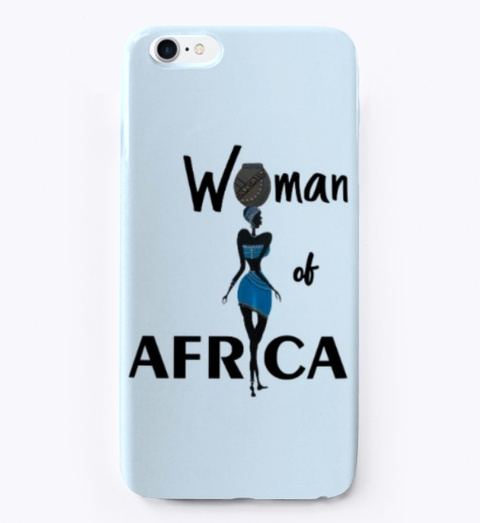 Woman Of Africa Pale Blue T-Shirt Front