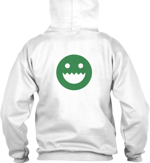 Polycount Hoodie Back White Sweatshirt Back