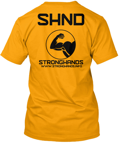 Official Stronghands  Gold T-Shirt Back