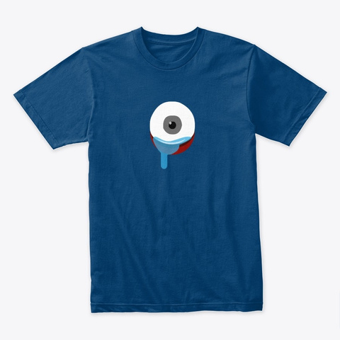 One Eye Crying Cool Blue T-Shirt Front