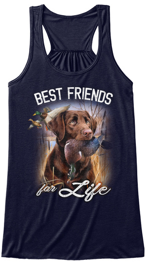 Best Friends For Life Midnight Women's Tank Top Front