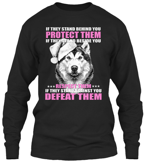 Wolf 2019 Protection Black T-Shirt Front