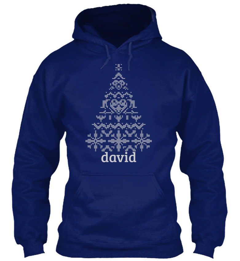 Trendsetting Knitted David Confortable Sweat Tree Christmas Capuche À 66OSqrwa