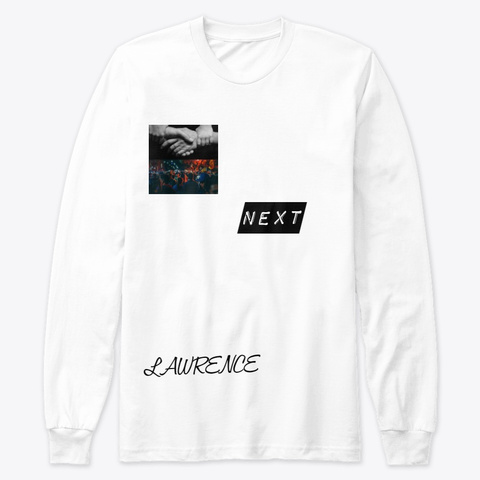 New Alert White Long Sleeve T-Shirt Front