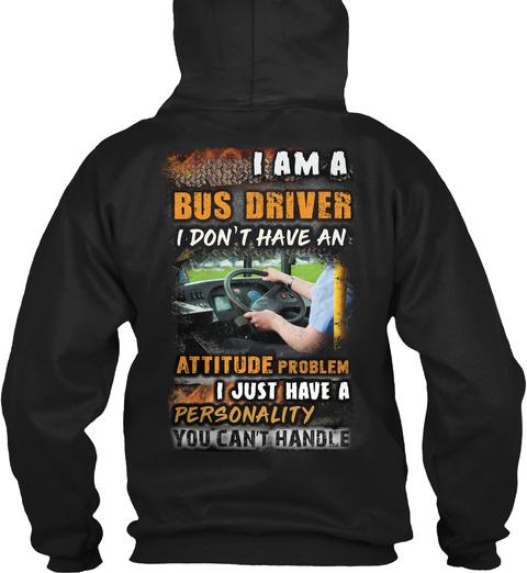 Bus Driver Hoodie Christmas Spl Black T-Shirt Back