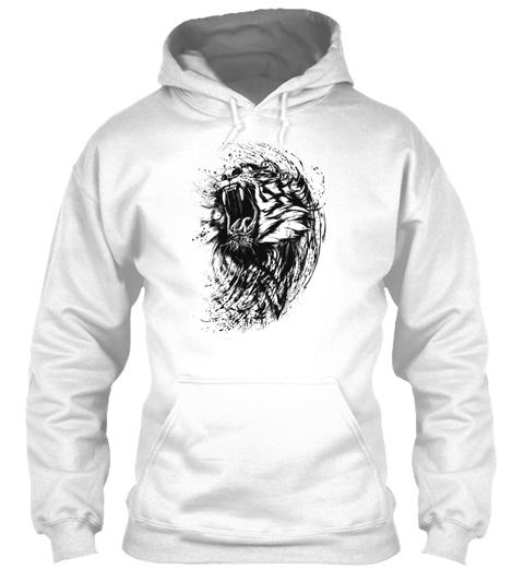 Illustration Bengal Tiger Shirt Animal S White T-Shirt Front