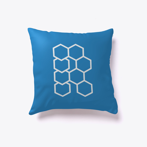 Hex R Pillow Denim Blue T-Shirt Front