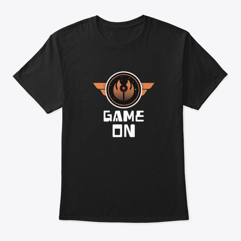 Game On Black T-Shirt Front