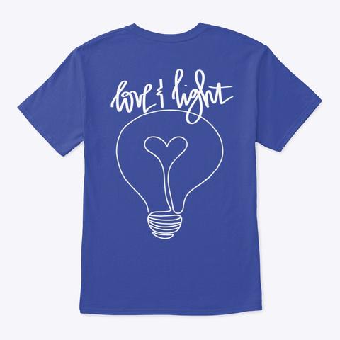 Love&Light Deep Royal T-Shirt Back