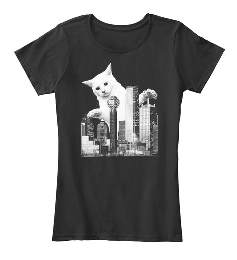 5. Catzilla Dallas Black T-Shirt Front
