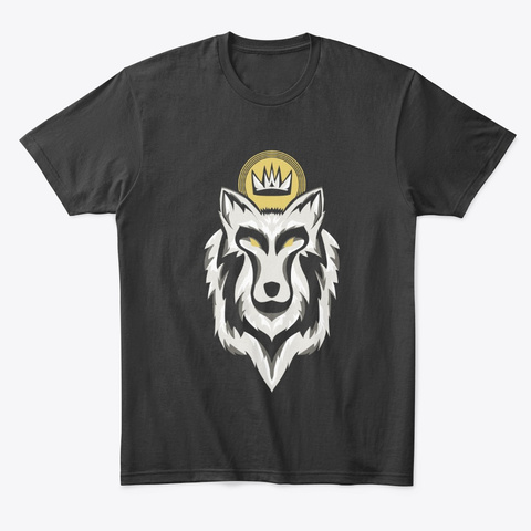 Lucky Wolf Graphic Tee Black T-Shirt Front