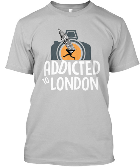 Addicted To London   Landmark Theft Sport Grey T-Shirt Front