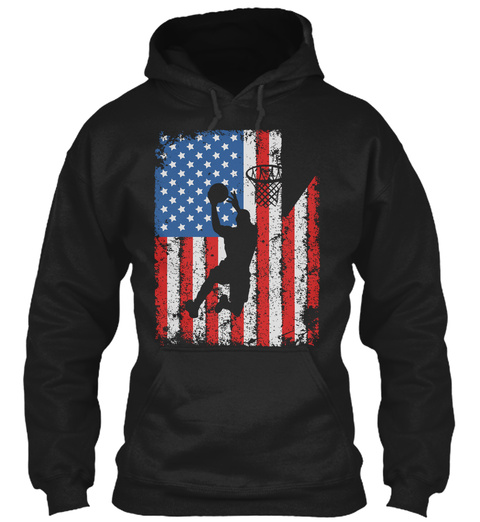 America And Basketball   Ltd. Edition Black T-Shirt Front