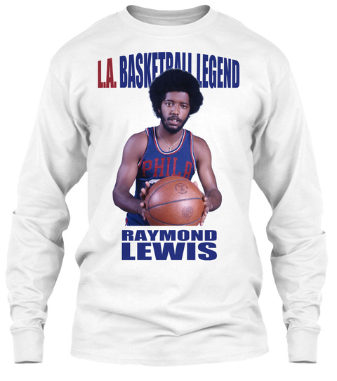 L.A. Basketball Legend Colored Tee White T-Shirt Front