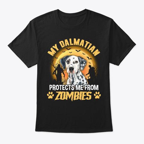 Halloween Dalmatian Lover Gift Black T-Shirt Front