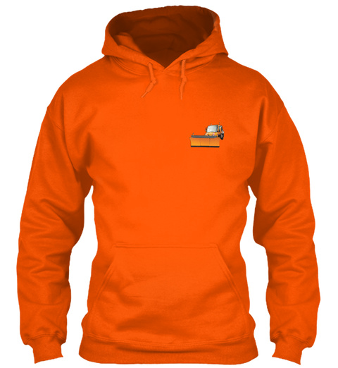 Snow Plow Driver Christmas Special Safety Orange T-Shirt Front
