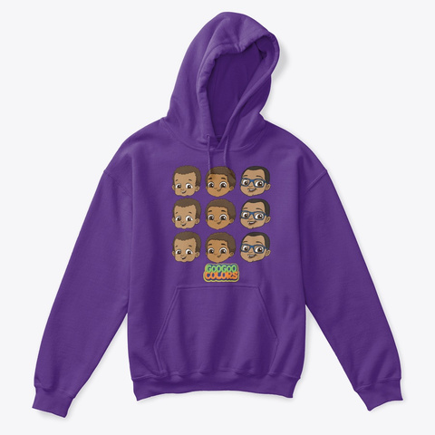 """Zbros"" Kid Hoodie Purple T-Shirt Front"