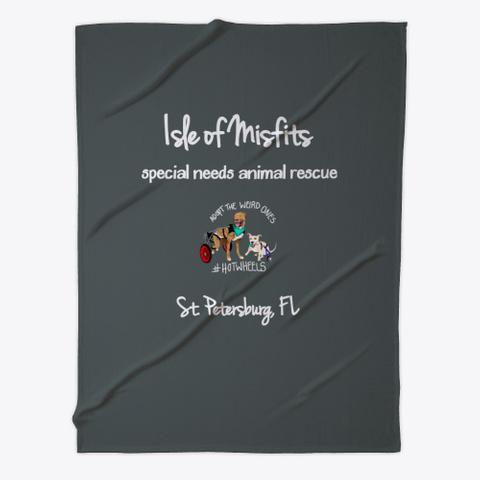 Isle Of Misfits Fleece Blanket Dark Grey T-Shirt Front