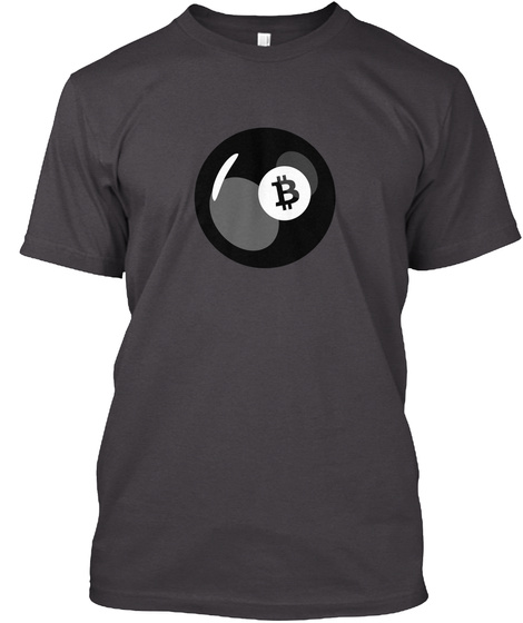 Bitwear   8 Ball Pool T Shirt Heathered Charcoal  T-Shirt Front