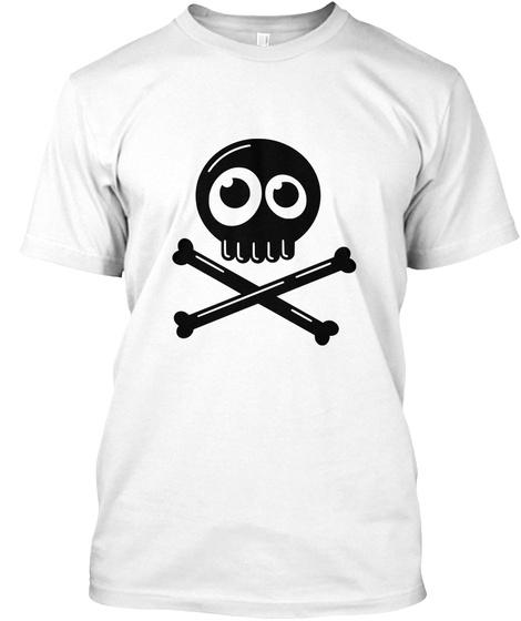 Silly Cross Bones White T-Shirt Front