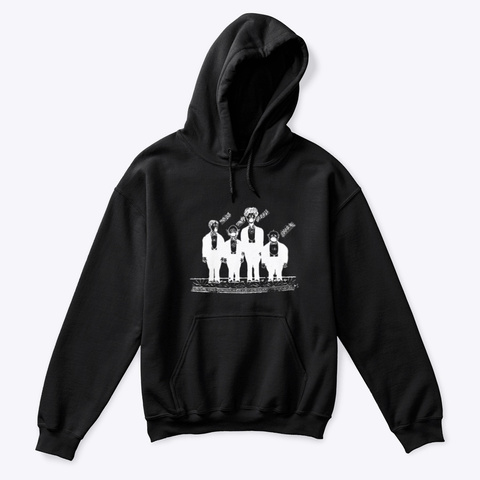 Kids Classic Pullover Hoodie Black T-Shirt Front