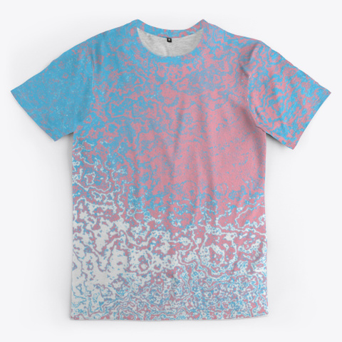 Transgender Pride Abstract Ripples Standard T-Shirt Front
