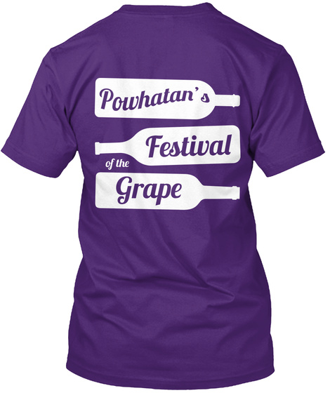 Powhatan's  Festival Of The Grape Purple T-Shirt Back