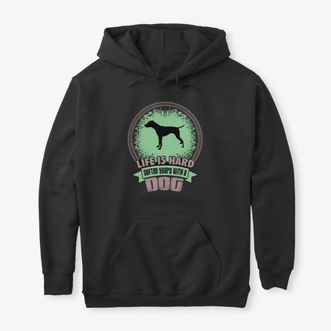 Rs With A Dog German Shorthaired Pointer Black T-Shirt Front