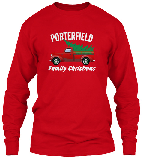 Porterfield Family Christmas Red T-Shirt Front