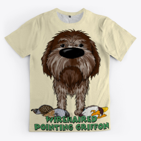 Wirehaired Pointing Griffon Light Yellow T-Shirt Front