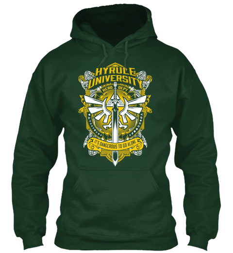 Hyrule University Forest Green T-Shirt Front