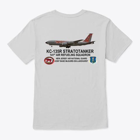 141st Air Refueling Squadron Light Steel T-Shirt Back