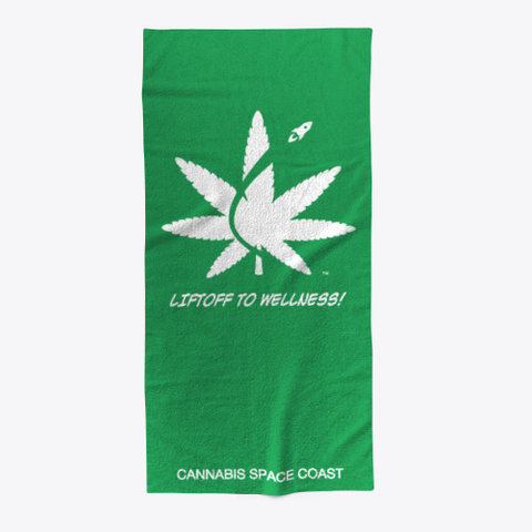 Cannabis Space Coast Green T-Shirt Front