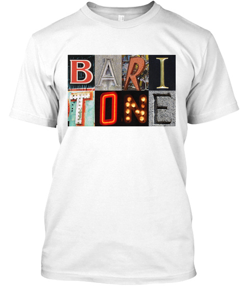 Baritone White T-Shirt Front