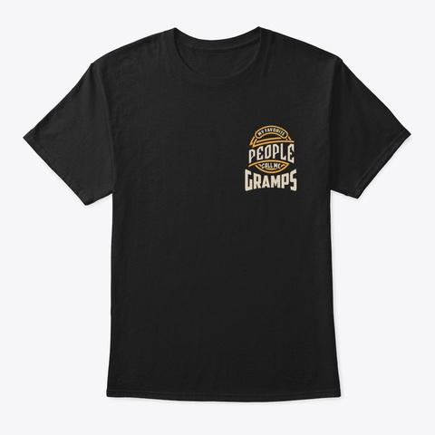 Mens My Favorite Gramps Grandpa Gift Black Camiseta Front