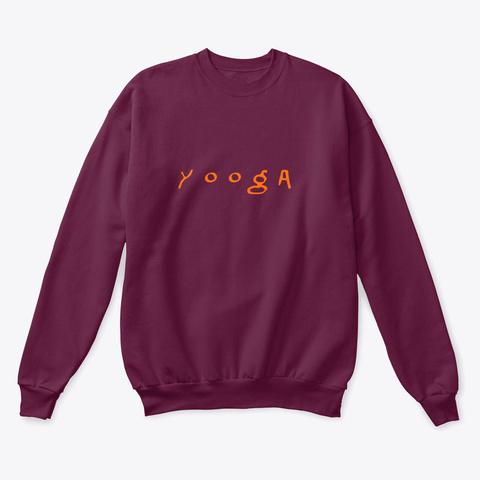 Yooga Maroon  T-Shirt Front